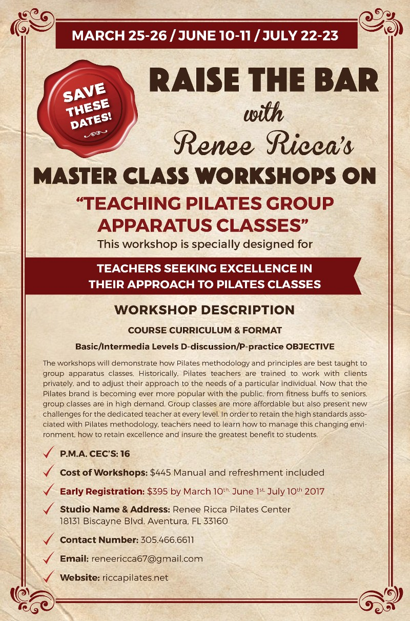 MASTERCLASS WORKSHOP